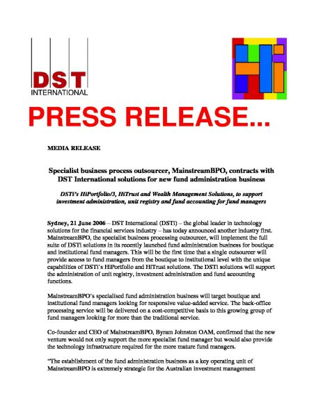 MainstreamBPO will Implement the Full Suite of DSTi Solutions