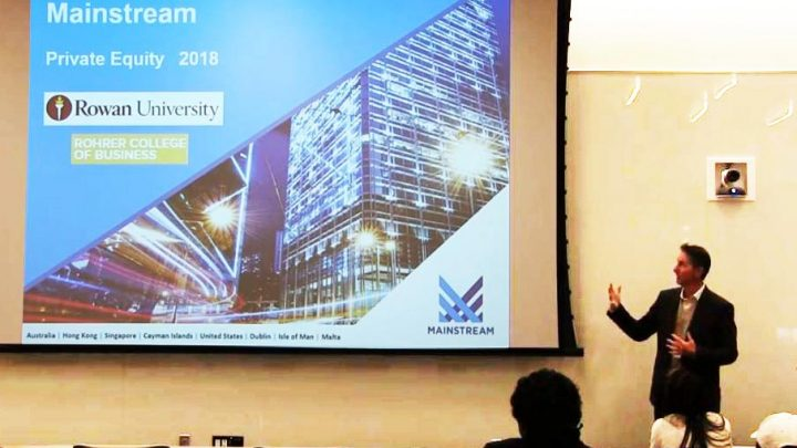 Mainstream Private Equity CEO speaks at Rowan University
